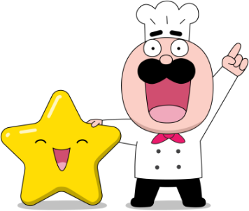 Chef holding a star