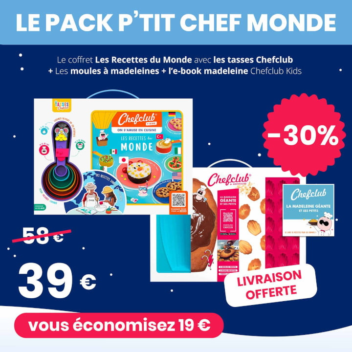Le pack P'tit Chef Monde